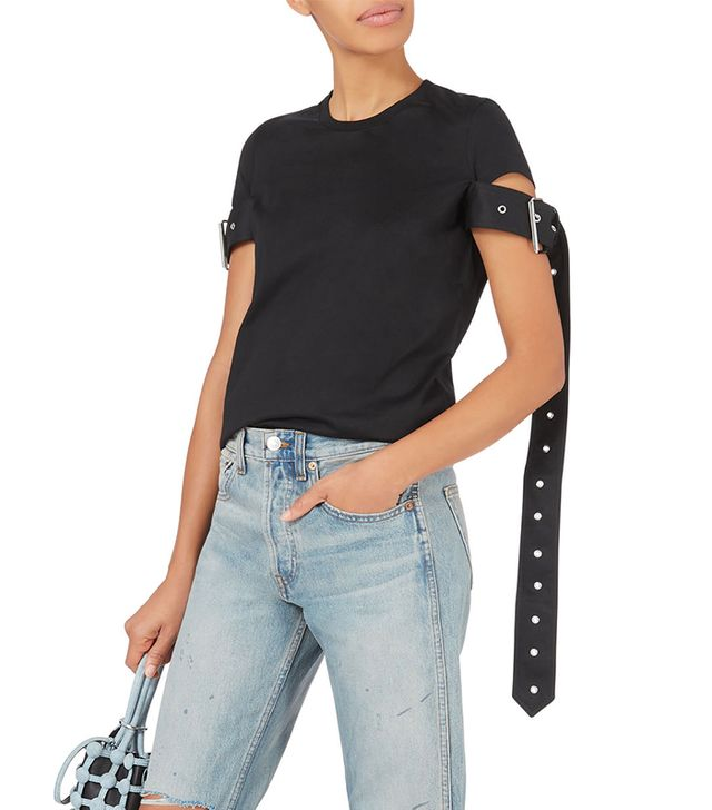 Marques' Almeida Belt Sleeve Black T-Shirt Black L