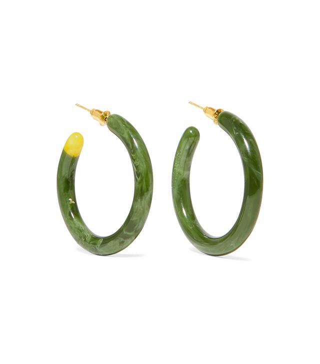 Cult Gaia Rhea Resin Hoop Earrings