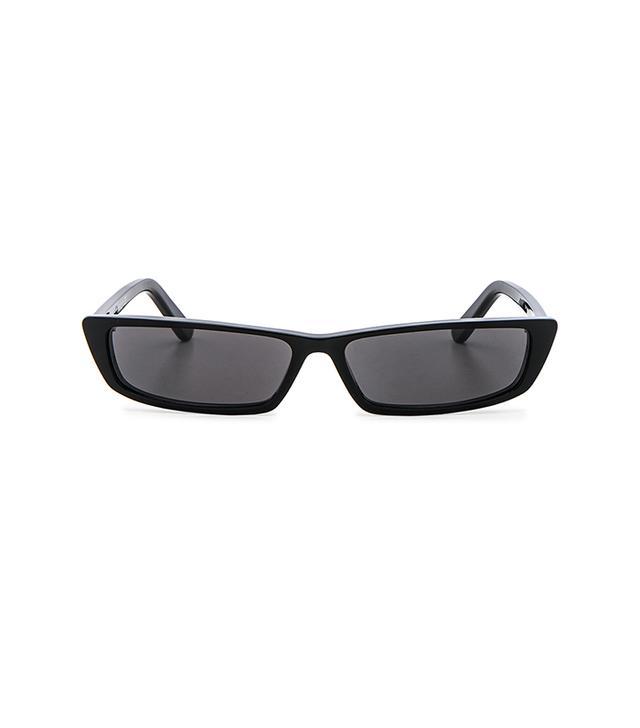 Balenciaga Logo Aviator Sunglasses