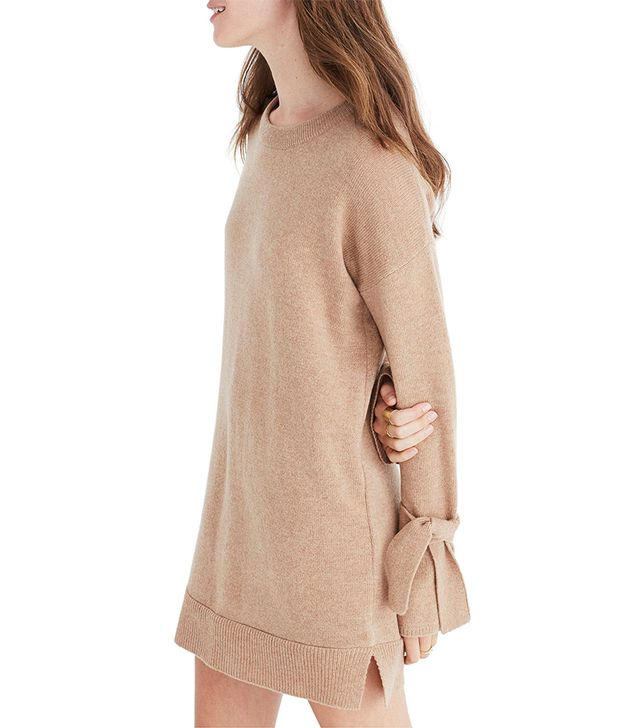 Tie Cuff Sweater Dress