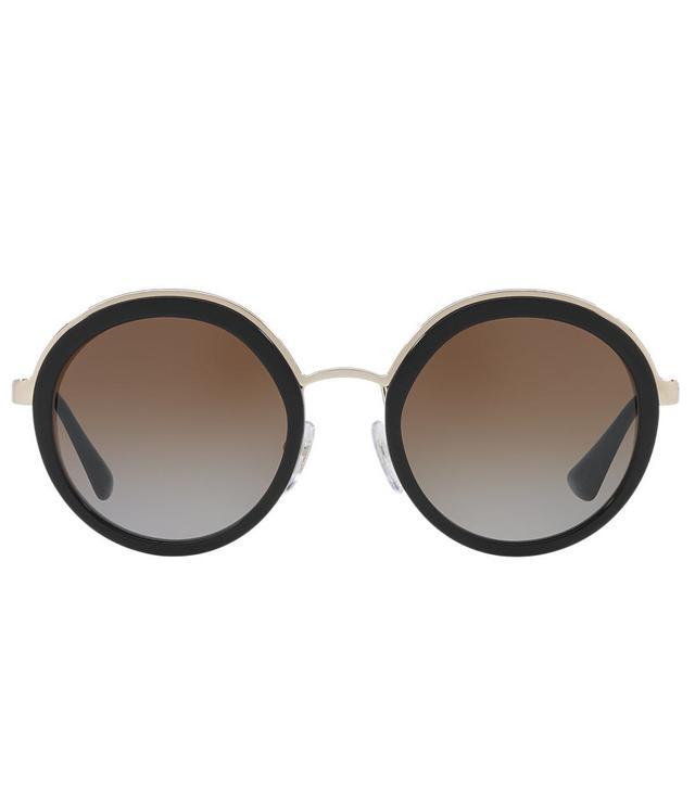 Pr 50ts Black Round Sunglasses