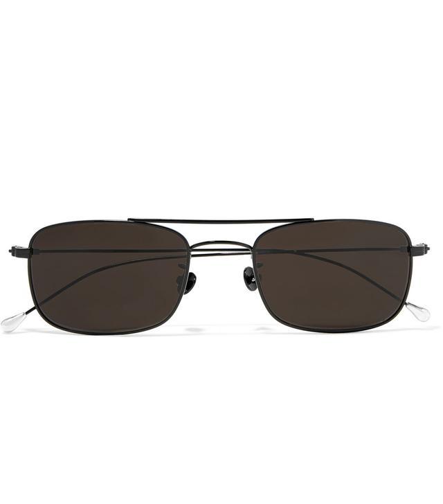 Square-frame Titanium Sunglasses
