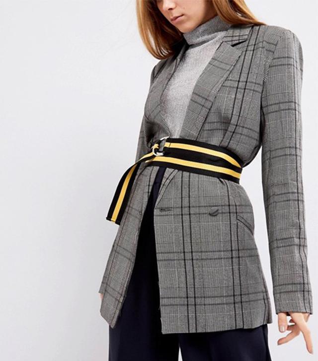 Shikumi Yellow Stripe D-Ring Belt