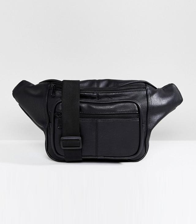 Shikumi Black Oversized Fanny Pack