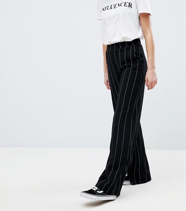 New Look Pin Stripe Wide Leg Pants