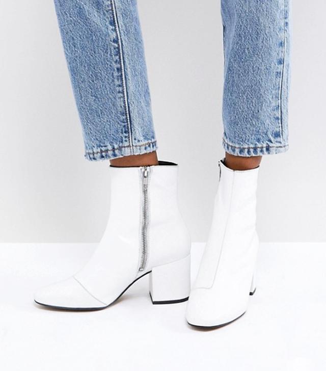 ASOS Rosana Leather Block Heeled Boots