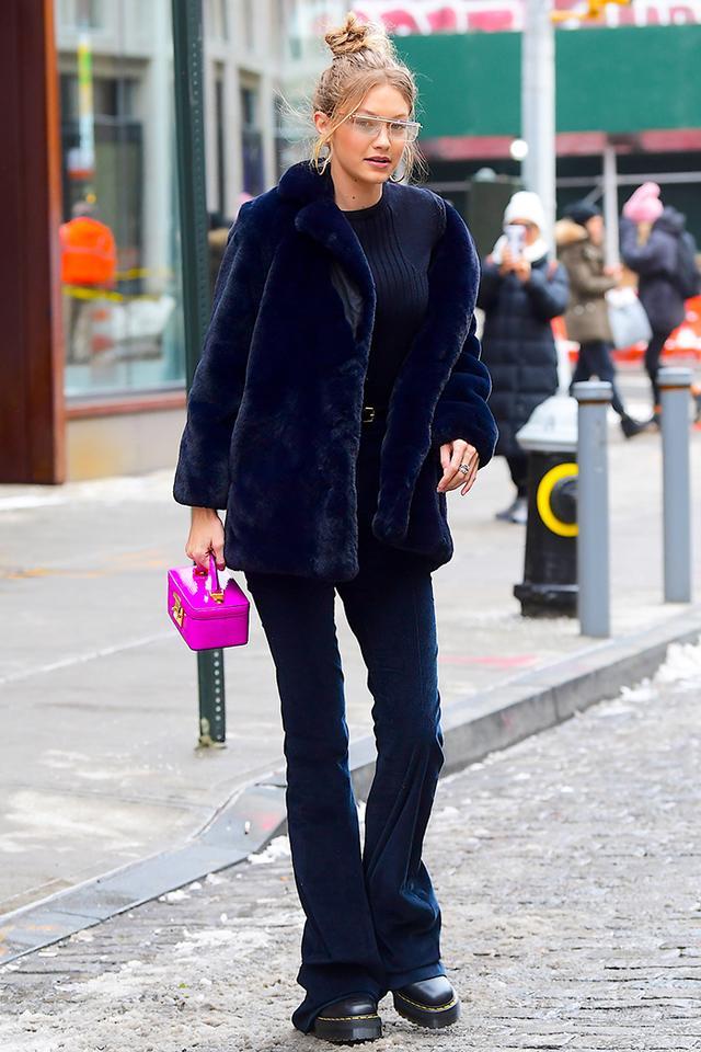 Gigi Hadid flared jeans