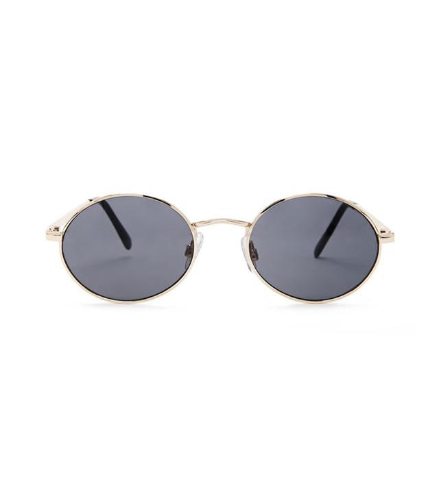 High-Polish Round Sunglasses