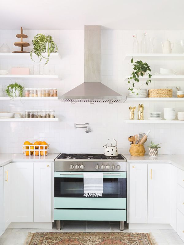 these kitchens prove that subway tile backsplashes will never go out of style mydomaine. Black Bedroom Furniture Sets. Home Design Ideas