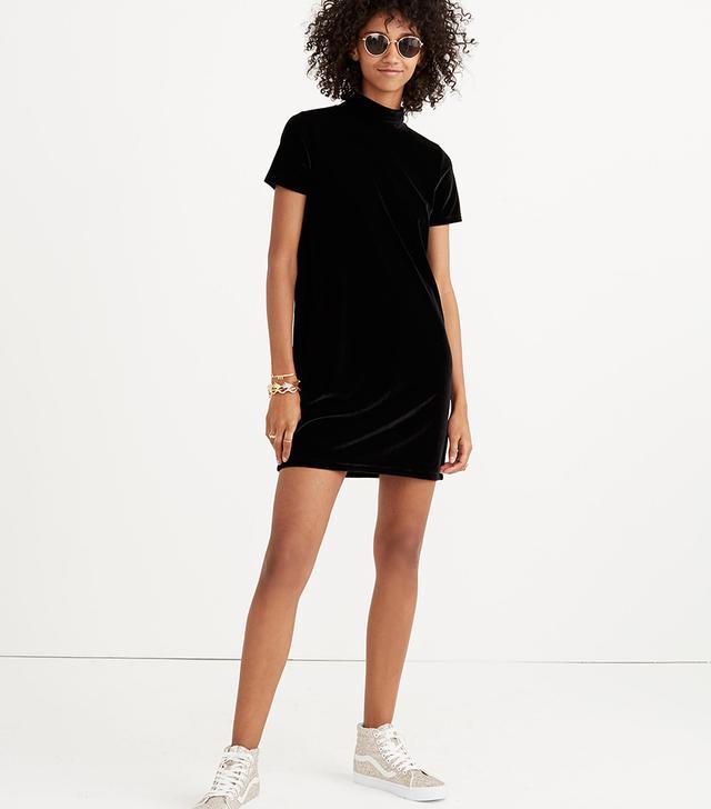 Madewell Velvet Mockneck Dress