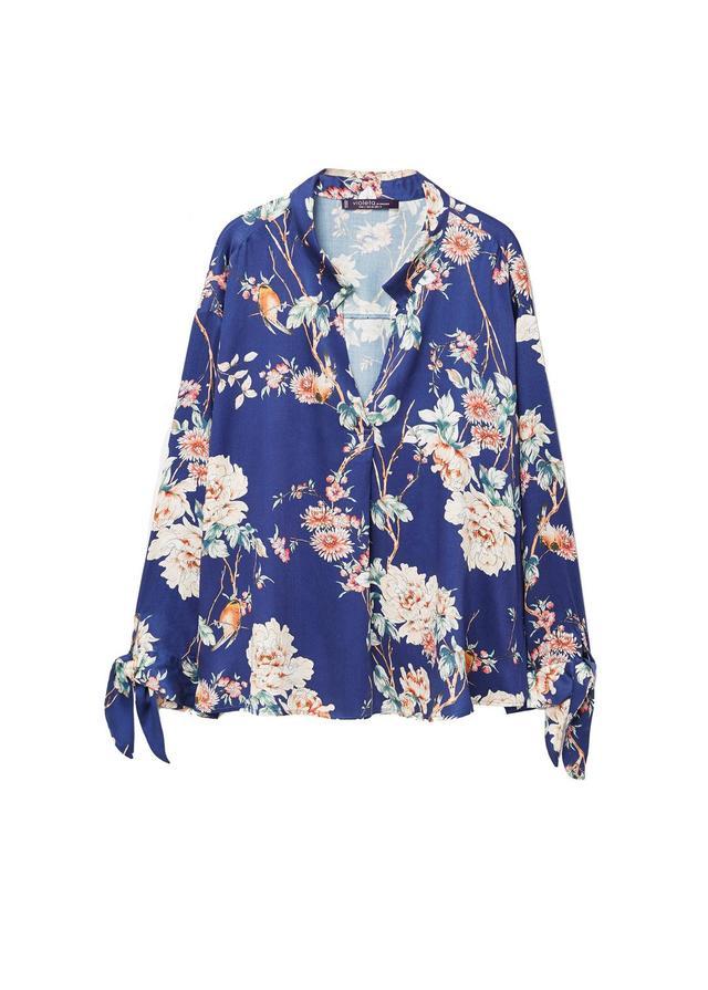 Floral bows blouse