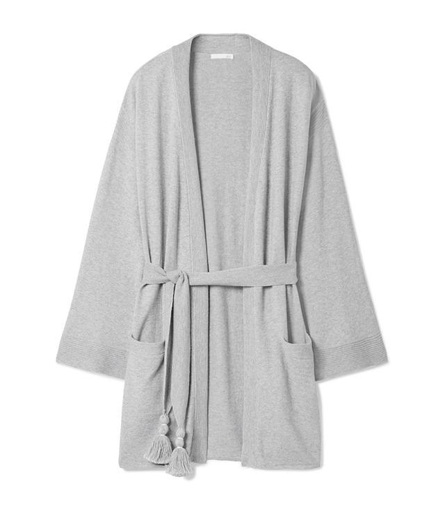 Valora Tasseled Cotton-blend Robe