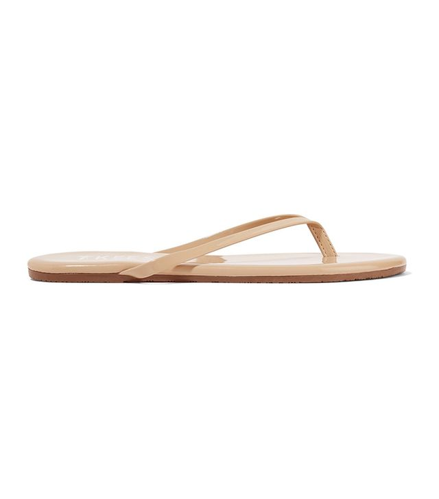Lily Patent-leather Flip Flops