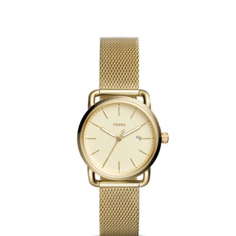 The Commuter Three-Hand Date Gold-Toned Stainless Steel Watch