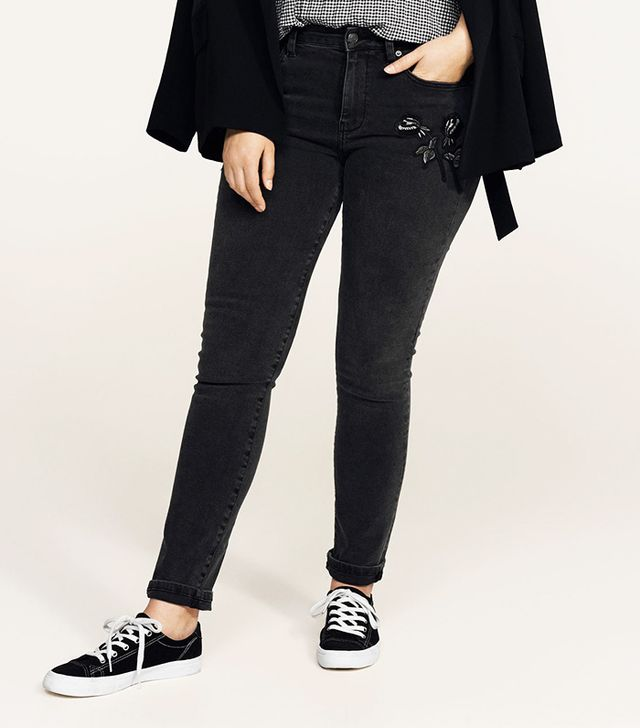 Alexia embroidery super slim-fit jeans