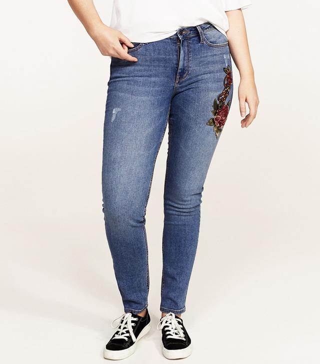 Super slim sequins jeans