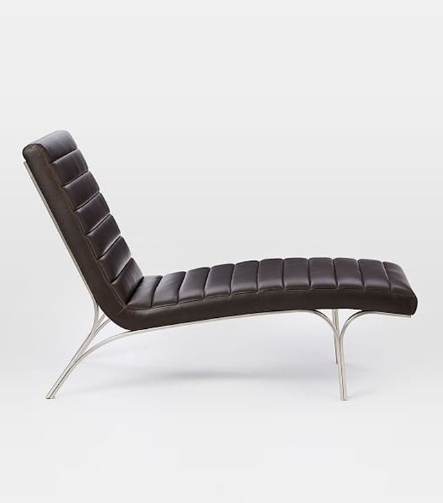 Emil Leather Chaise