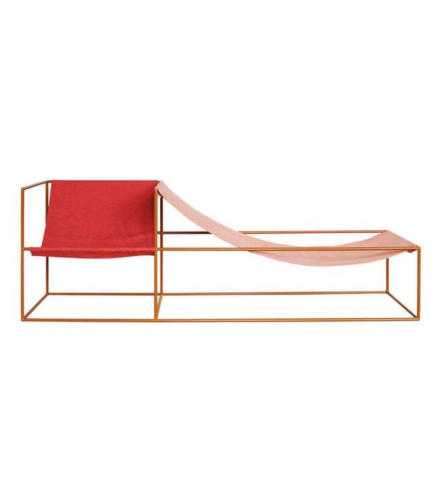Muller Van Severen Red and Pink-Seater Chaise Longue