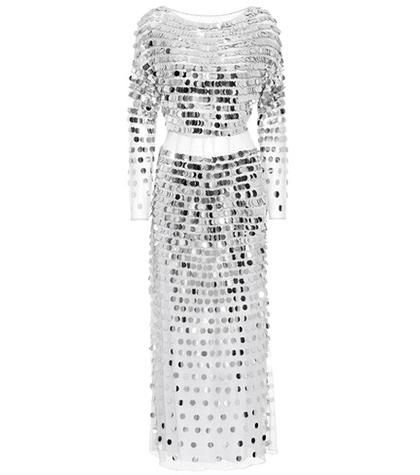 Sequinned linen dress