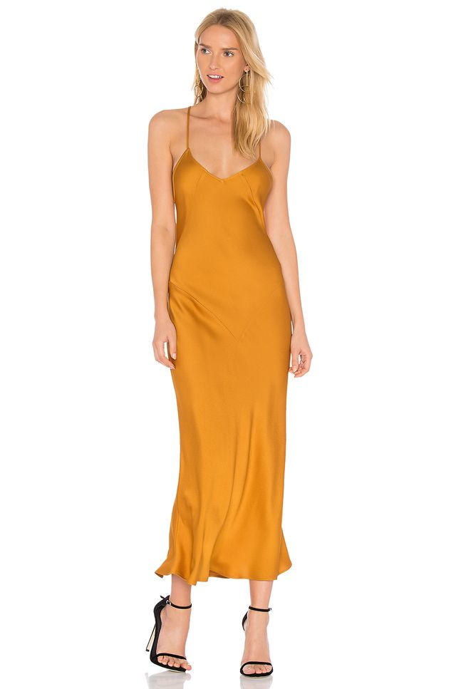 Trudy Slip Dress in Mustard. - size XS (also in M)
