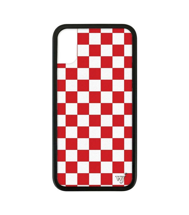 Wildflower Cases Red Checkers iPhone X Case