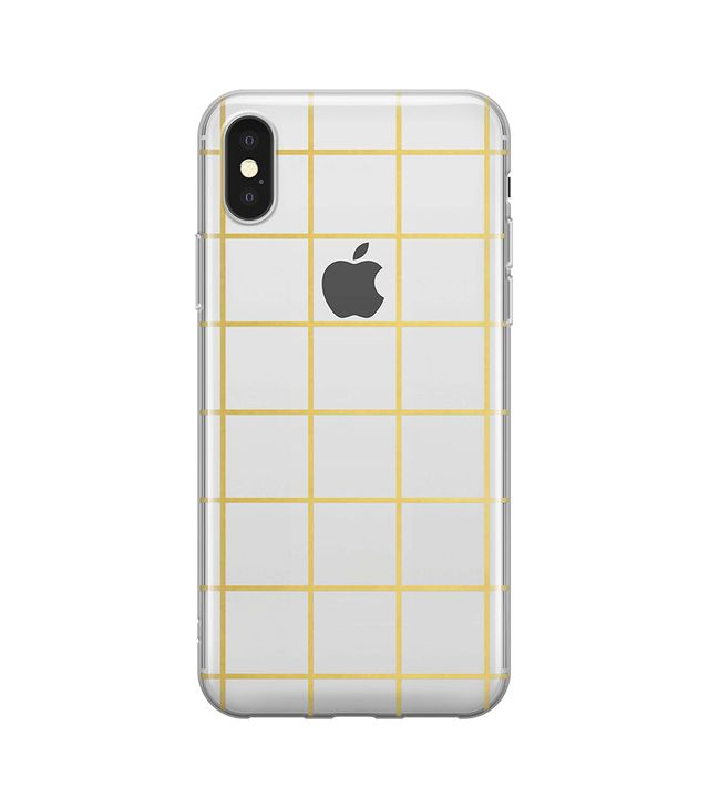Gold Grid Iphone X Case - Metallic