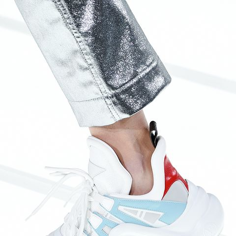 shoe trends 2018: futuristic sneakers at Louis Vuitton