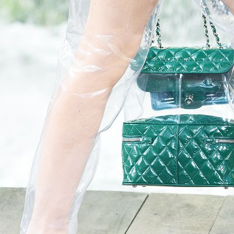 shoe trends 2018: plastic  boots at Chanel