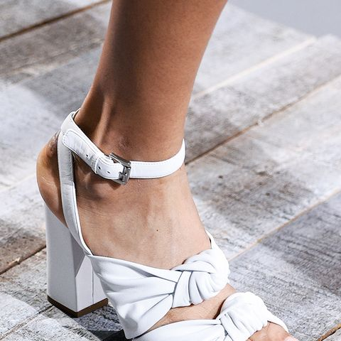 shoe trends 2018: white sandals at Michael Kors