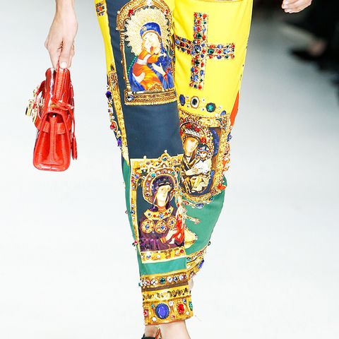 shoe trends 2018: embellished mules at Versace