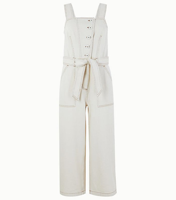 Marks and Spencer Collection Denim Button Detailed Jumpsuit