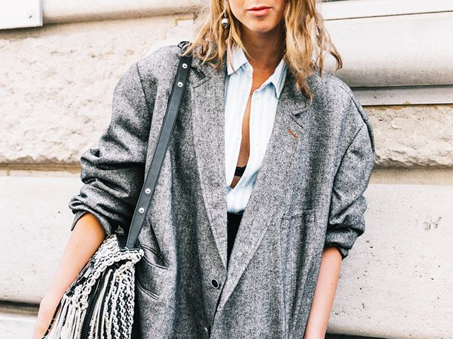 Button down shirt street style