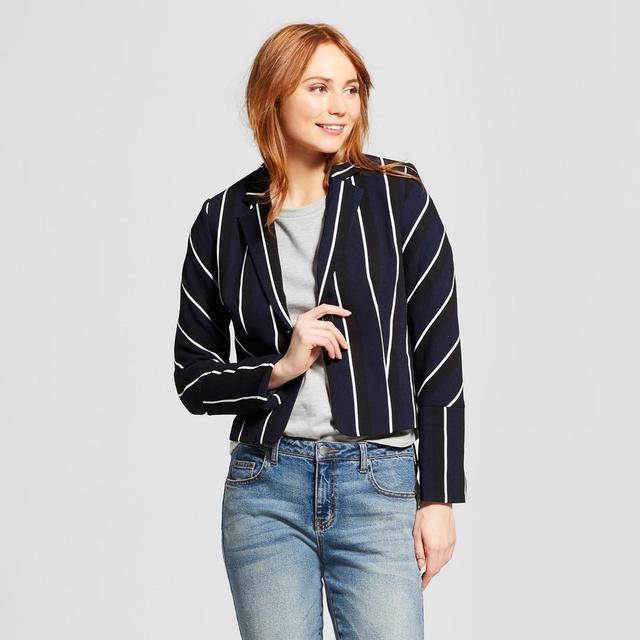 Long Sleeve Stripe Blazer