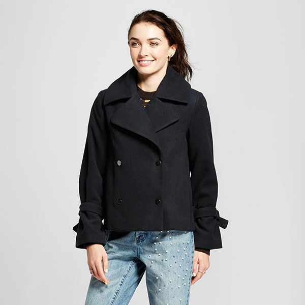 Who What Wear Boxy Femme Pea Coat