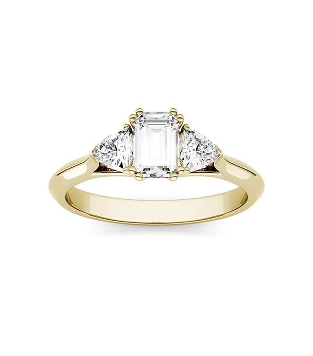 Charles & Colvard Three Stone Engagement Ring