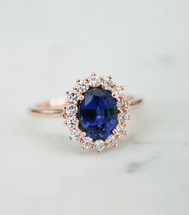 Olive Avenue Jewelry Rose Gold Sapphire Ring