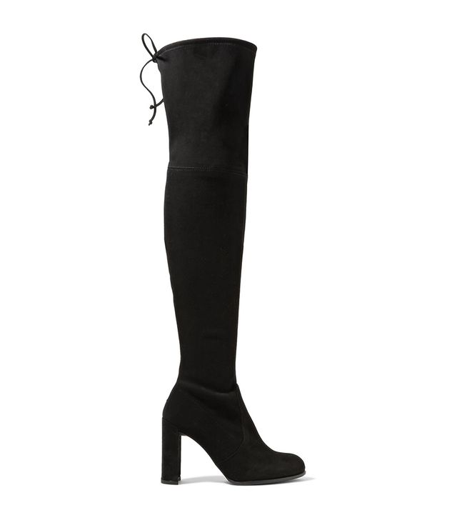 Stuart Weitzman Hiline Stretch-suede Over-the-Knee Boots