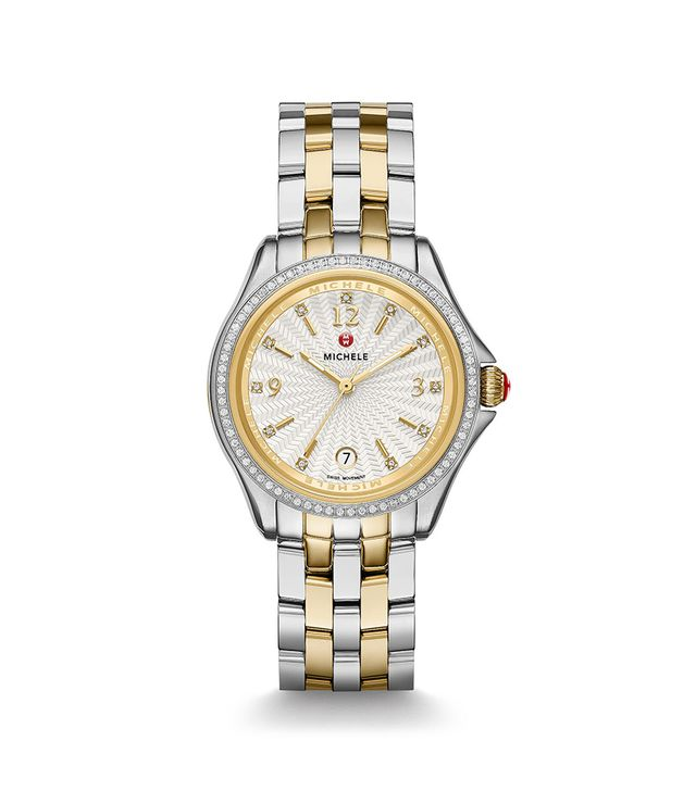 Michele Belmore Diamond, Two-Tone Diamond Dial Watch