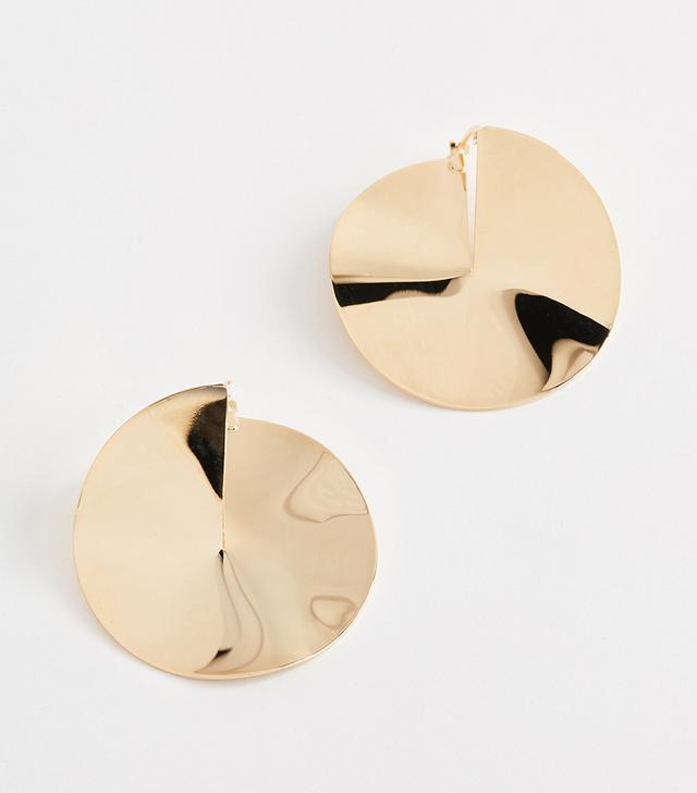 Drape Earrings in Bronze