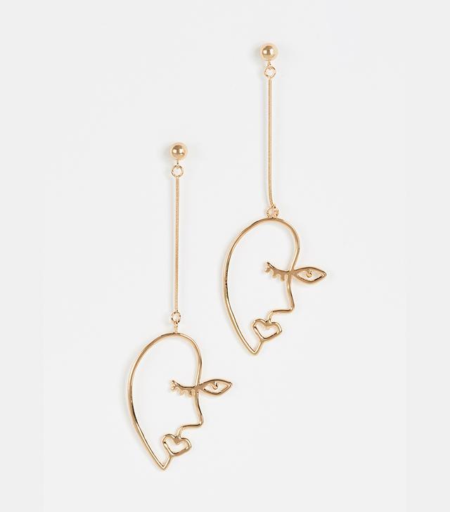 Profile Linear Drop Earrings