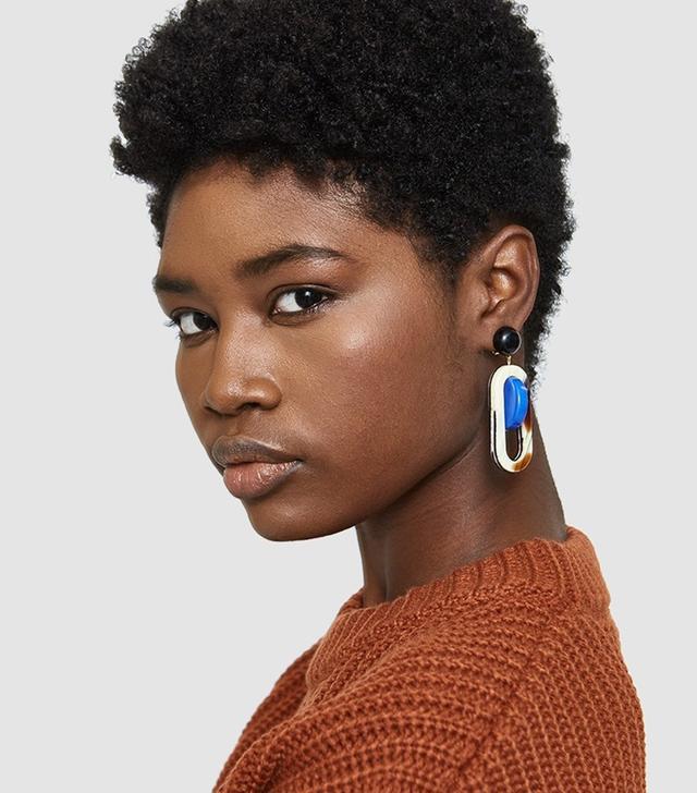 Lohr Earrings in Stripe Shell