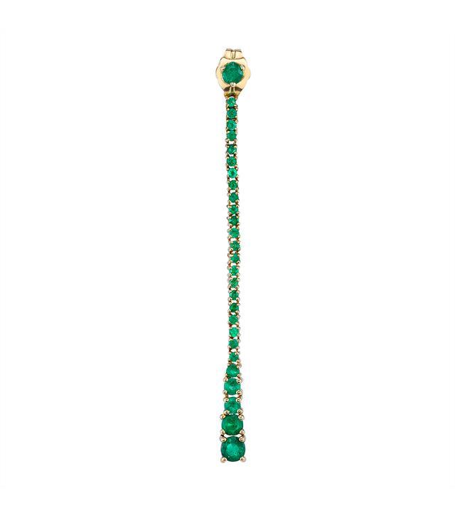 The Last Line Emerald Dew Drops Earrings