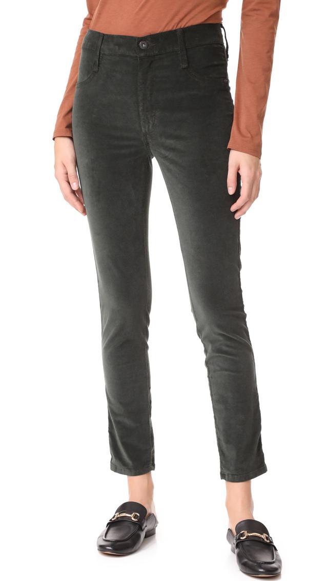 Velveteen Skinny High Rise Legging Jeans