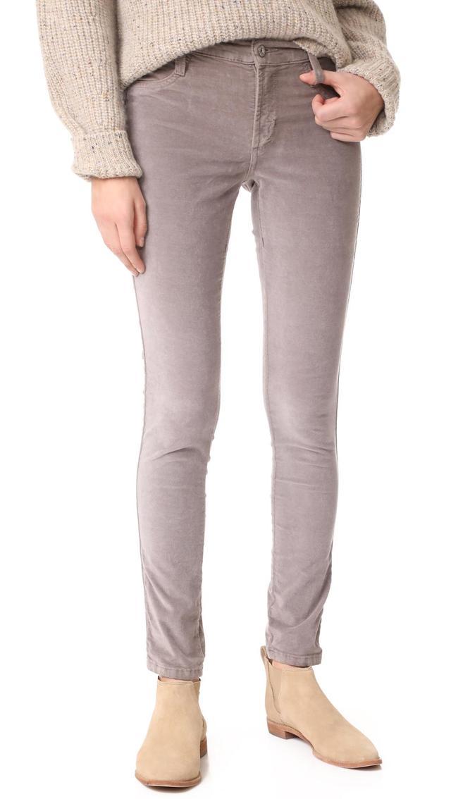Velveteen Mid Rise Legging Jeans