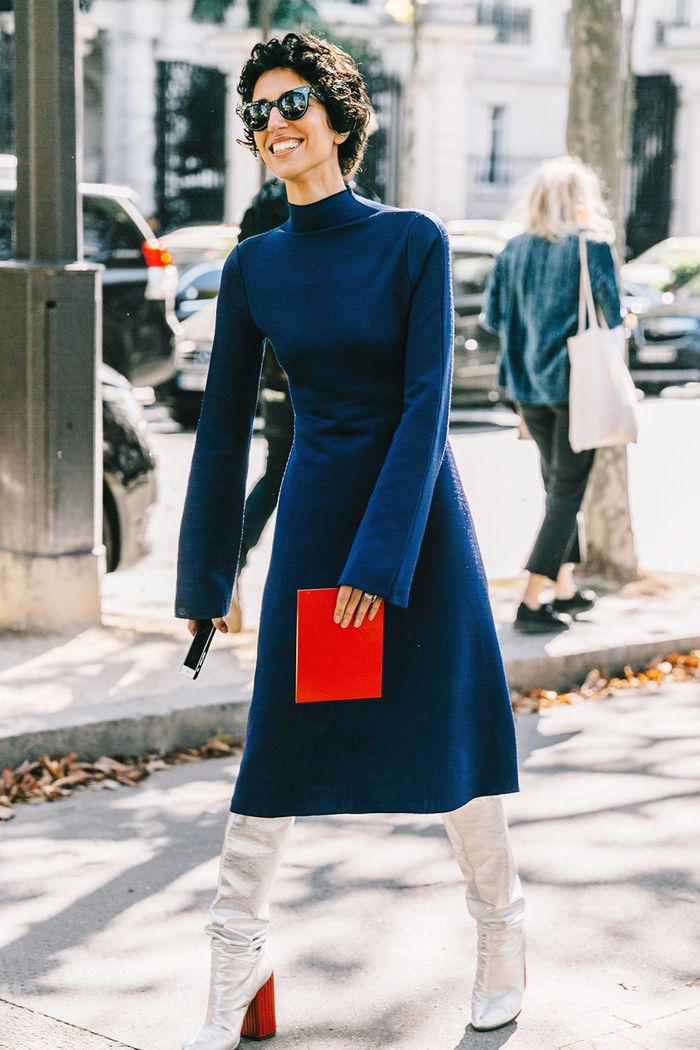 The Most Stylish Colors To Wear With Navy Blue Who What Wear