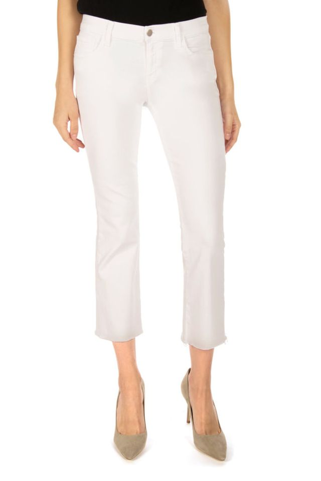 J Brand Selena Mid-Rise Cropped Boot Cut Jeans
