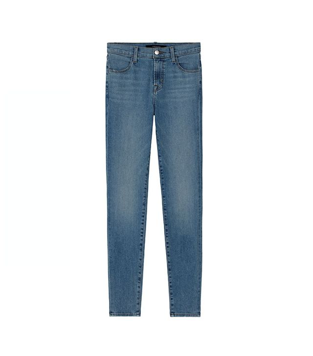 J Brand Mid-Rise Super Skinny Jeans in Everlasting