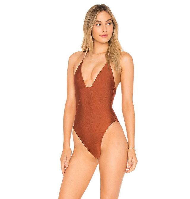 The Eva One Piece in Rust. - size XXS (also in L,M,S,XS)