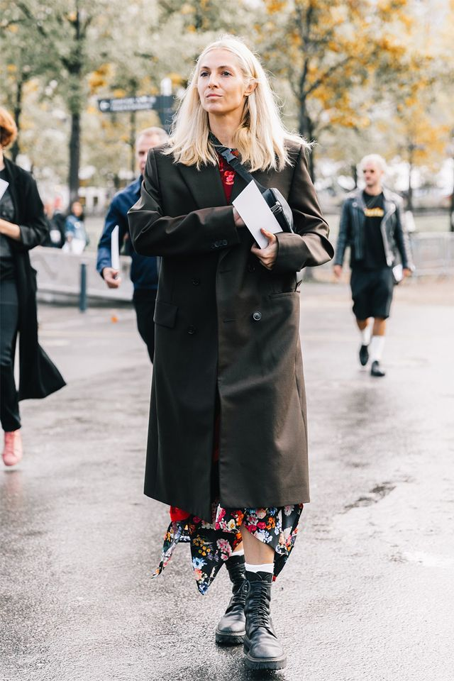 While floral dresses love some good pumps, they secretly love chunky lace-up boots even more.