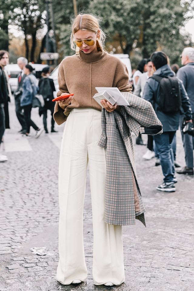 Need to dress up your thick knits? Copy this look now and thank us later.
